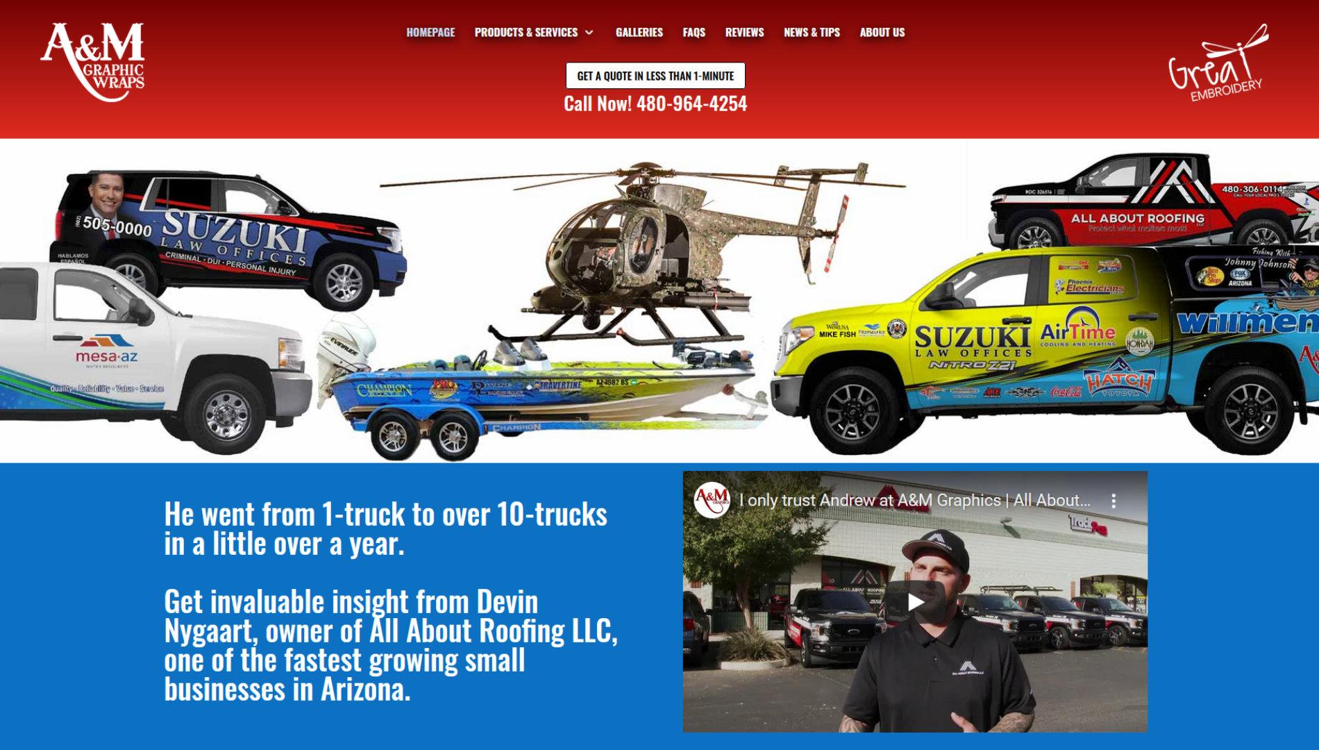 A&M Graphics Fleet Branding in Mesa