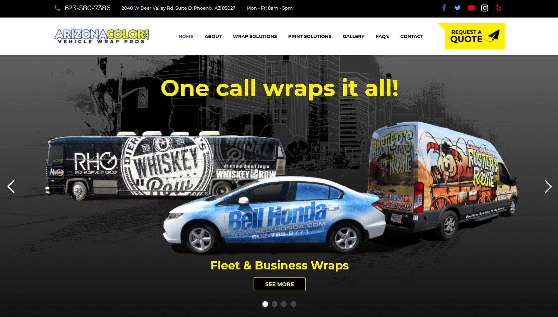 Arizona Color Vehicle Wrap Professionals in Phoenix